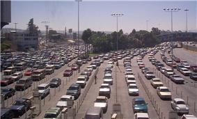 Traffic approaching the San Ysidro Port of Entry