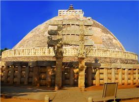 ''The Great Stupa at Sanchi''