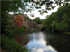 Sanford Mills on the Charles River
