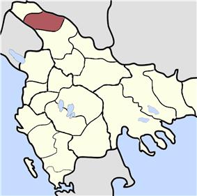 Location of Novi Pazar, Sanjak