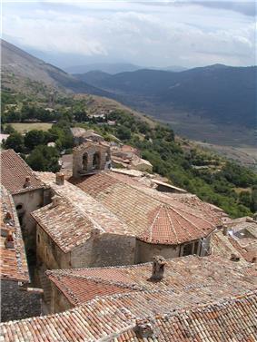Rooftop view of Santo Stefano di Sessanio