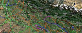 Sapt Kranti Express Route Map