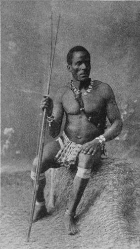 Saramaka man, photo c.1910, from Sir Harry H. Johnson's The Negro in the New World
