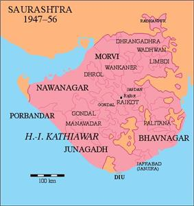 Location of Palitana