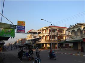The commercial centre of Kaysone Phomvihane, Savannakhet Province