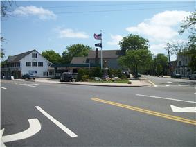 Sparrow Park War Memorial at the corner of Main Street and Middle Road in Sayville