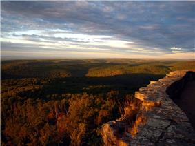 View of the Ozarks from atop  White Rock Mountain.
