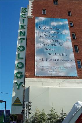 A Scientology Center on Hollywood Boulevard in Hollywood, Los Angeles, California