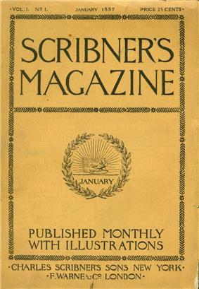 The first issue of Scribner's Magazine.
