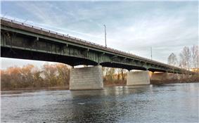 The Scudder Falls Bridge in Scudders Falls.