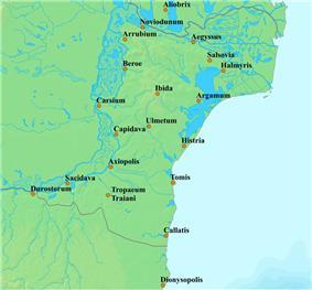 Map of Scythia Minor