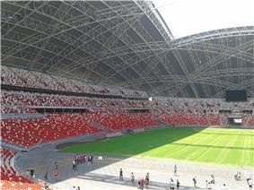 Seating at the National Stadium