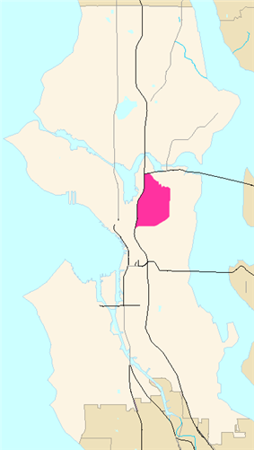 Map of Capitol Hill's location in Seattle