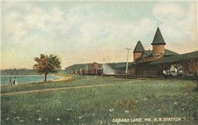 Sebago Lake Depot in 1907