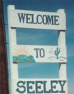 Seeley's welcome sign