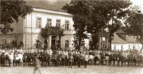 Cavalry parade in Sejny