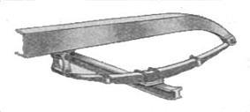 Vehicle suspension with semi-elliptic springs