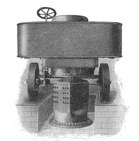 Sentinel steam waggon, with boiler dismantled for cleaning