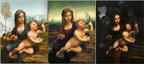 More variations on the Madonna of the Yarnwinder