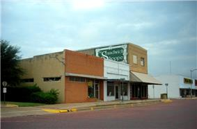 A row of businesses in Seymour