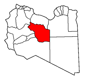Map of the district of Jufra