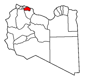 Map of the district of Murqub