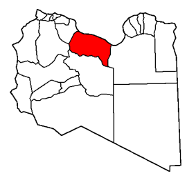 Map of the district of Sirte