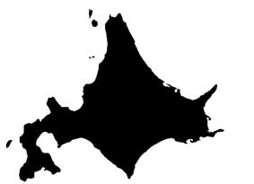 Shadow picture of Hokkaido