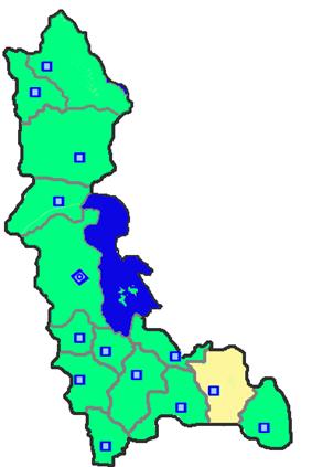 Location of Shahin Dezh County in West Azerbaijan Province.