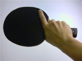 Shakehand grip (backhand)