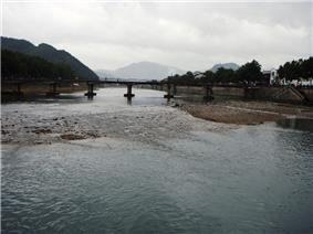 Shanjiang River in front of Xiaoyangfang, Xikou