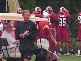 Shanahan August 5, 2010 at Redskins Park