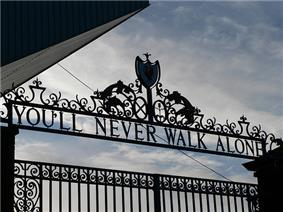 The Shankly Gates at Liverpool F.C.'s Anfield stadium