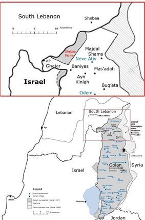 Location of Ghajar