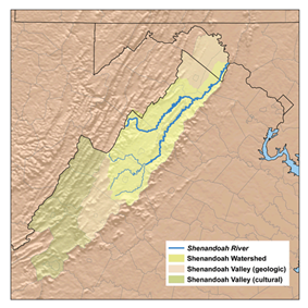 Map of the Shenandoah Valley