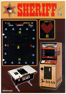 Arcade flyer of Sheriff.