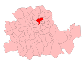 Boundaries of Shoreditch from 1918 to 1950