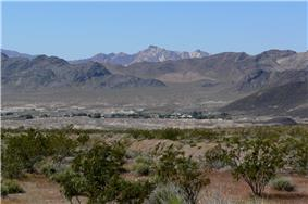 View of Shoshone from the east