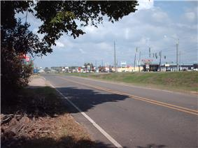 Shreve City as seen from Shreveport Barksdale Highway facing east towards the Red River