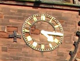 Shrewsbury Abbey clock.