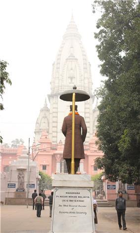 Shri Vishwanath Mandir as seen from main entrance (East) of the temple
