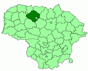 Location of Šiauliai district municipality within Lithuania