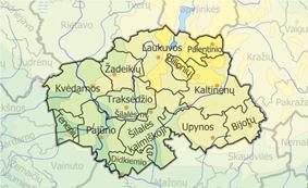 Map of Šilalė district municipality