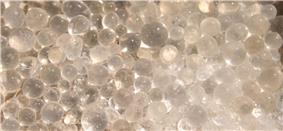 Beads of silica gel