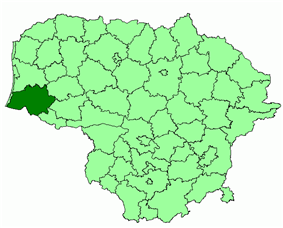 Location of Šilutė district municipality within Lithuania
