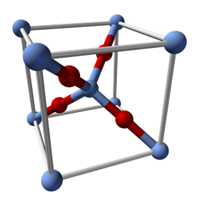 Silver(I) oxide structure in unit cell