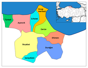 Districts of Sinop