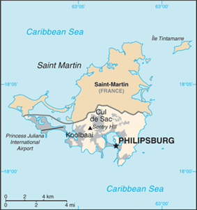 Sint Maarten is located on the southern half of<br/>the island of .