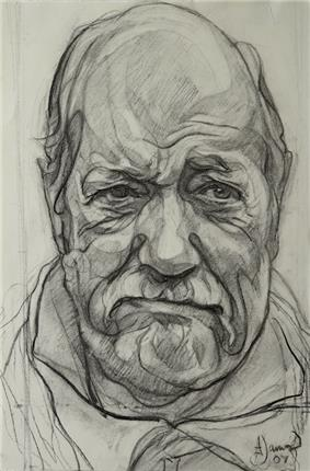 Andrew James' Portrait of Sir Wally Herbert. Now owned by Andrew Regan