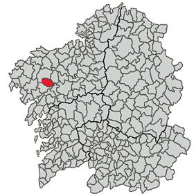 Location of A Baña within Galicia
